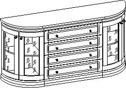 """Комод полукруглый со стеклянными дверями – <a href=""""/catalog/vitriny-i-tv/id2102"""">витрина Сильвия</a>"""