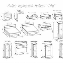 Спальный гарнитур City фабрика Глазов