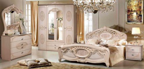 Спальный гарнитур Розалия фабрика КМК мебель